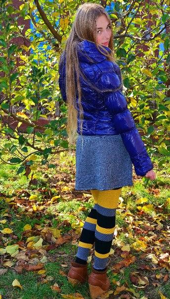 Фото 4: Детские легинсы Gaialuna в яркую полоску