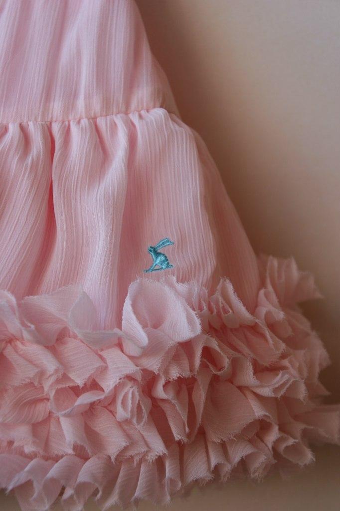 Фото 3: Розовая юбка из шифона