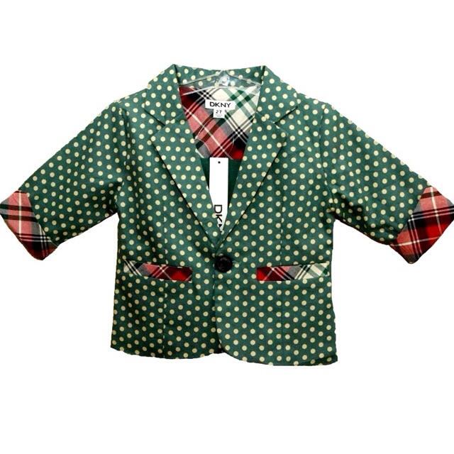Фото 1: Зеленый пиджак с укороченным рукавом DKNY