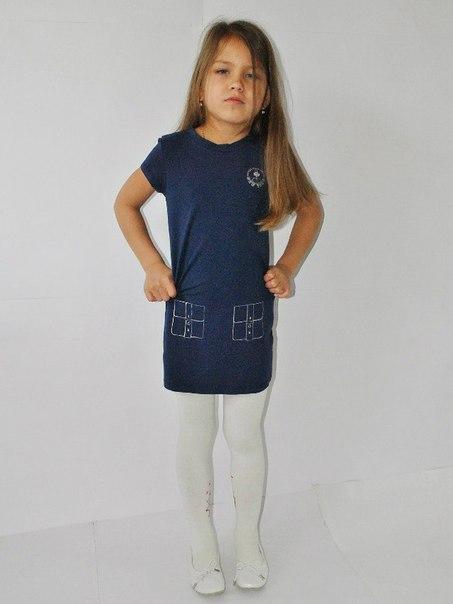 Фото 5: Синие детское платье Little Mark Jacobs