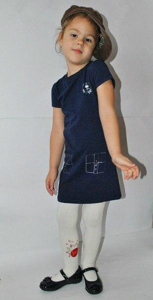 Фото 6: Синие детское платье Little Mark Jacobs