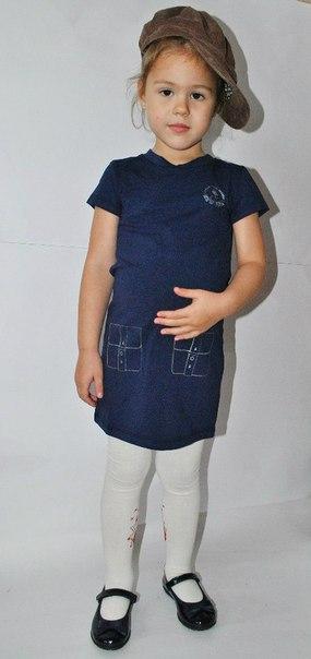 Фото 7: Синие детское платье Little Mark Jacobs