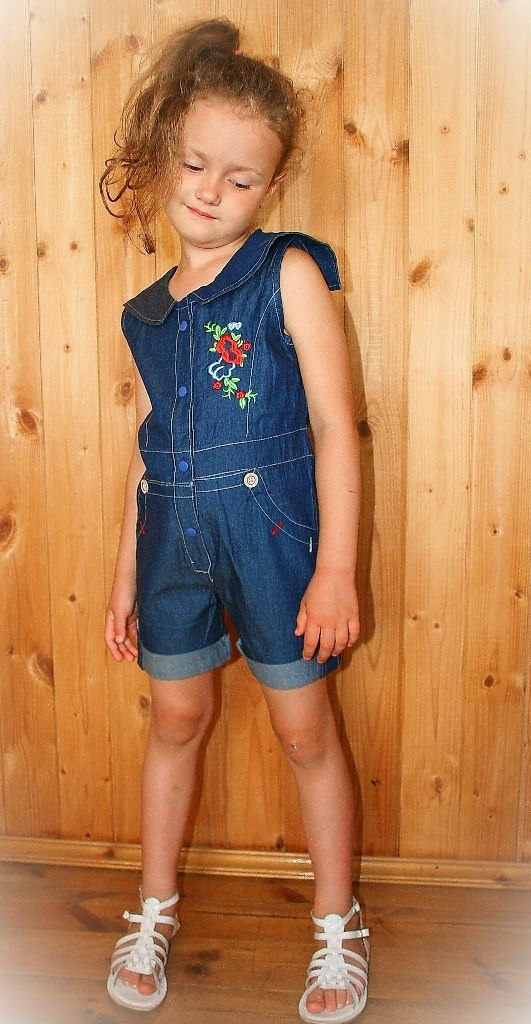 Фото 2: Детский комбинезон джинсовый