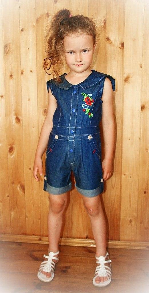 Фото 3: Детский комбинезон джинсовый
