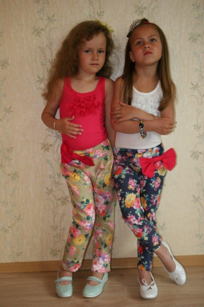 Фото 1: Детские летние брюки для девочек