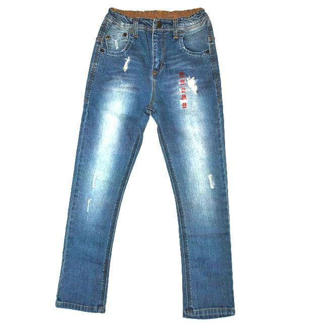 Фото 1: светлые джинсы высокой посадки для девочек