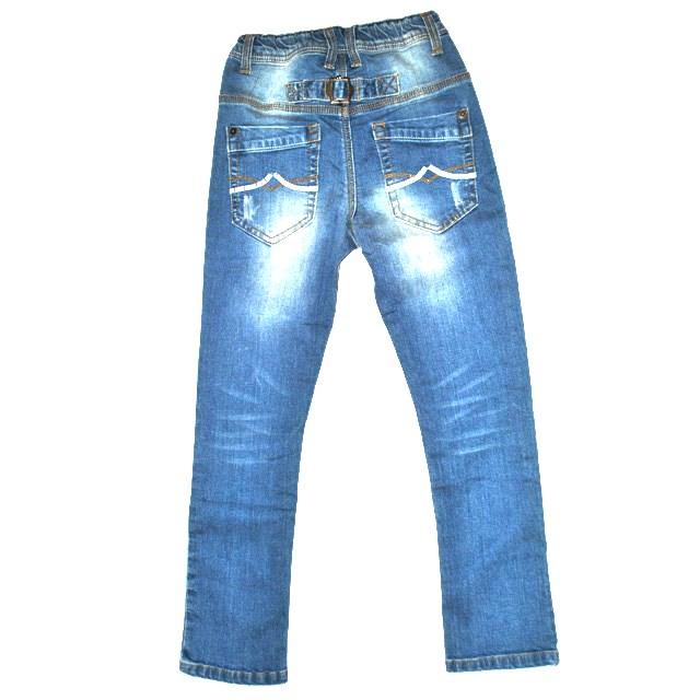 Фото 2: светлые джинсы высокой посадки для девочек