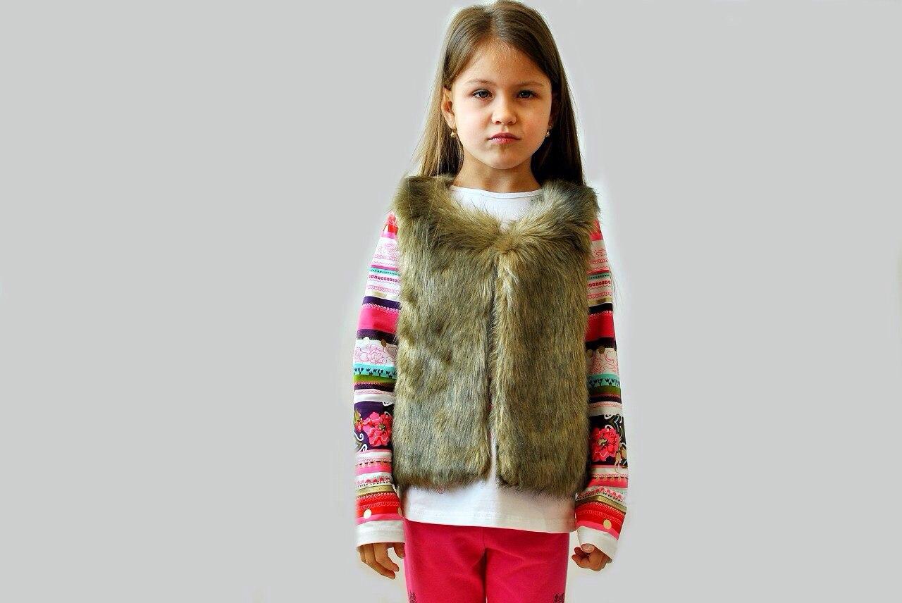 Фото 5: Меховая жилетка ETHIK SISTers для девочек