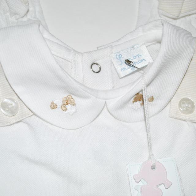 Фото 3: Белоснежный комбинезон Limon mignon для новорожденных