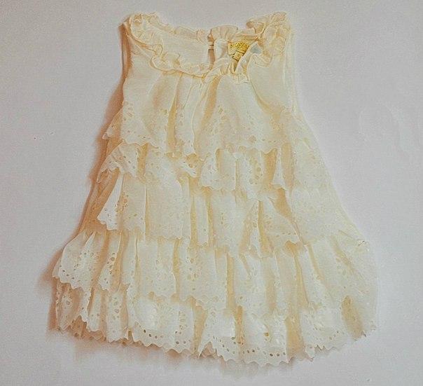 Фото 2: Белое праздничное платье для девочек