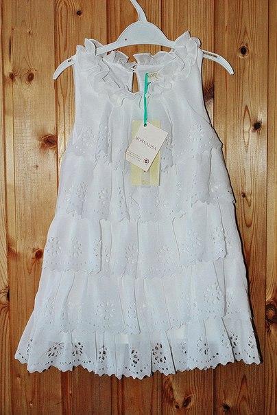 Фото 3: Белое праздничное платье для девочек