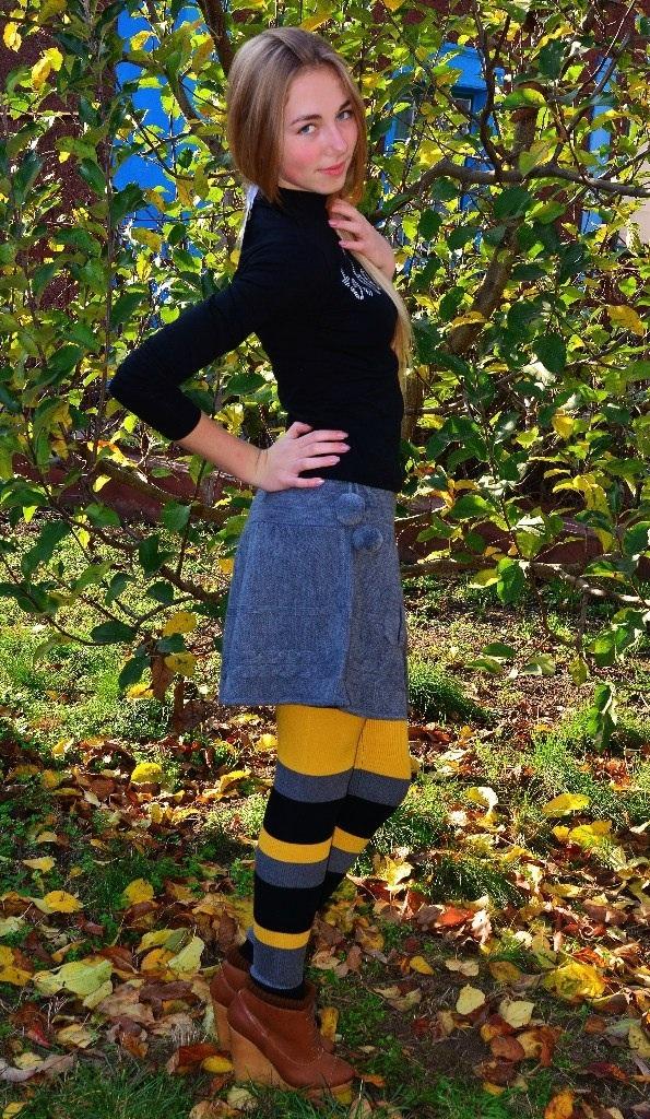 Фото 2: Модная вязанная юбка для девочек TO BE TOO
