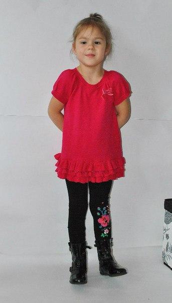 Фото 2: Красное платье для девочек DKNY