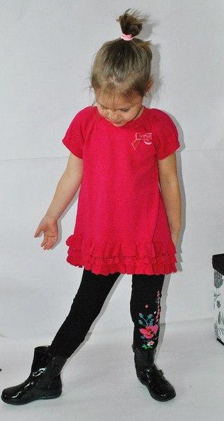 Фото 3: Красное платье для девочек DKNY