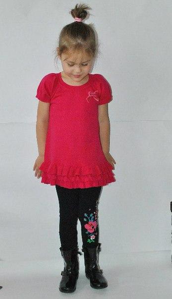 Фото 4: Красное платье для девочек DKNY