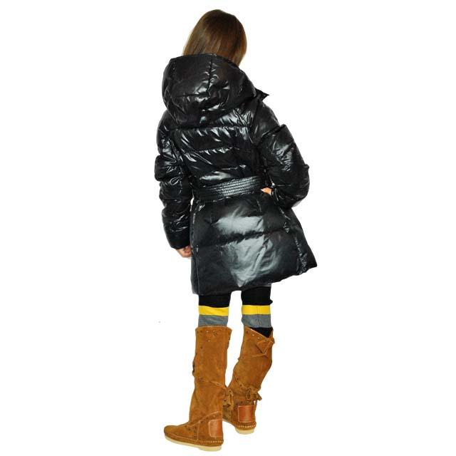 Фото 8: Черный пуховик Аdd для девочек