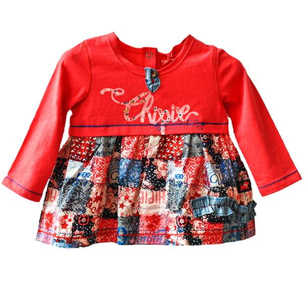 Фото 1: Красное платье Chipie baby на 6 мес.