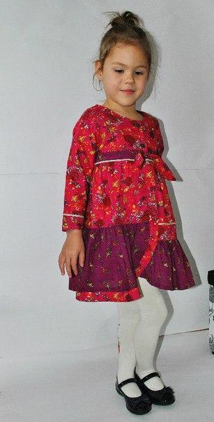 Фото 4: Бордовое платье для девочек Kenzo