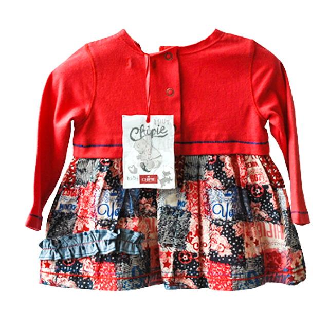 Фото 2: Красное платье Chipie baby на 6 мес.