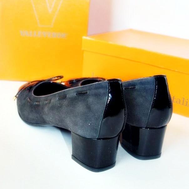 Кожаные туфли темно серого/черного цвета. Картинка 3