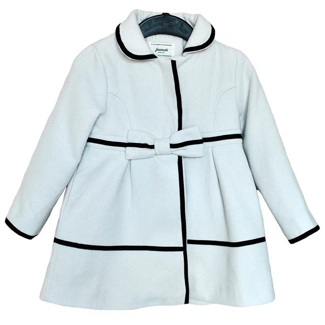 Фото 1: Пальто Jacadi для девочек белого цвета