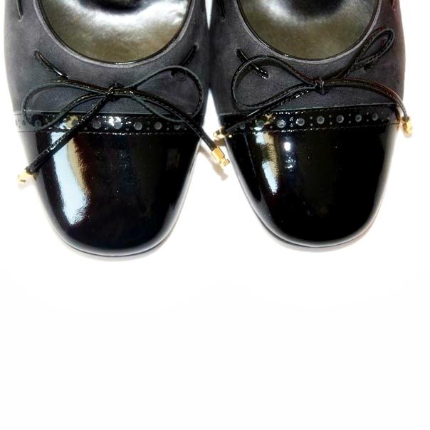 Кожаные туфли темно серого/черного цвета. Картинка 4