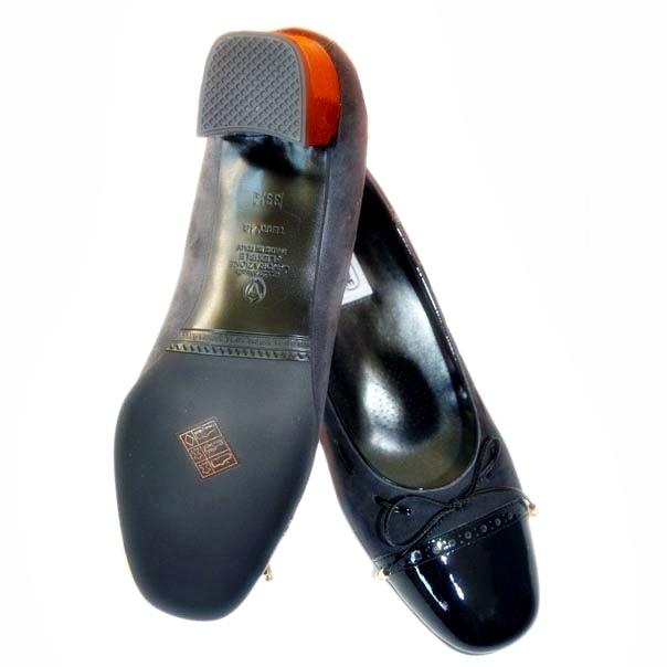 Кожаные туфли темно серого/черного цвета. Картинка 6