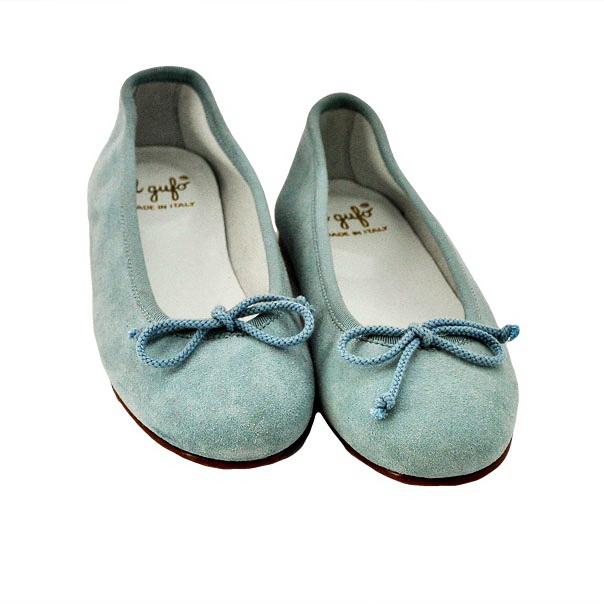 Фото 4: Туфли для девочек il gufo синего цвета