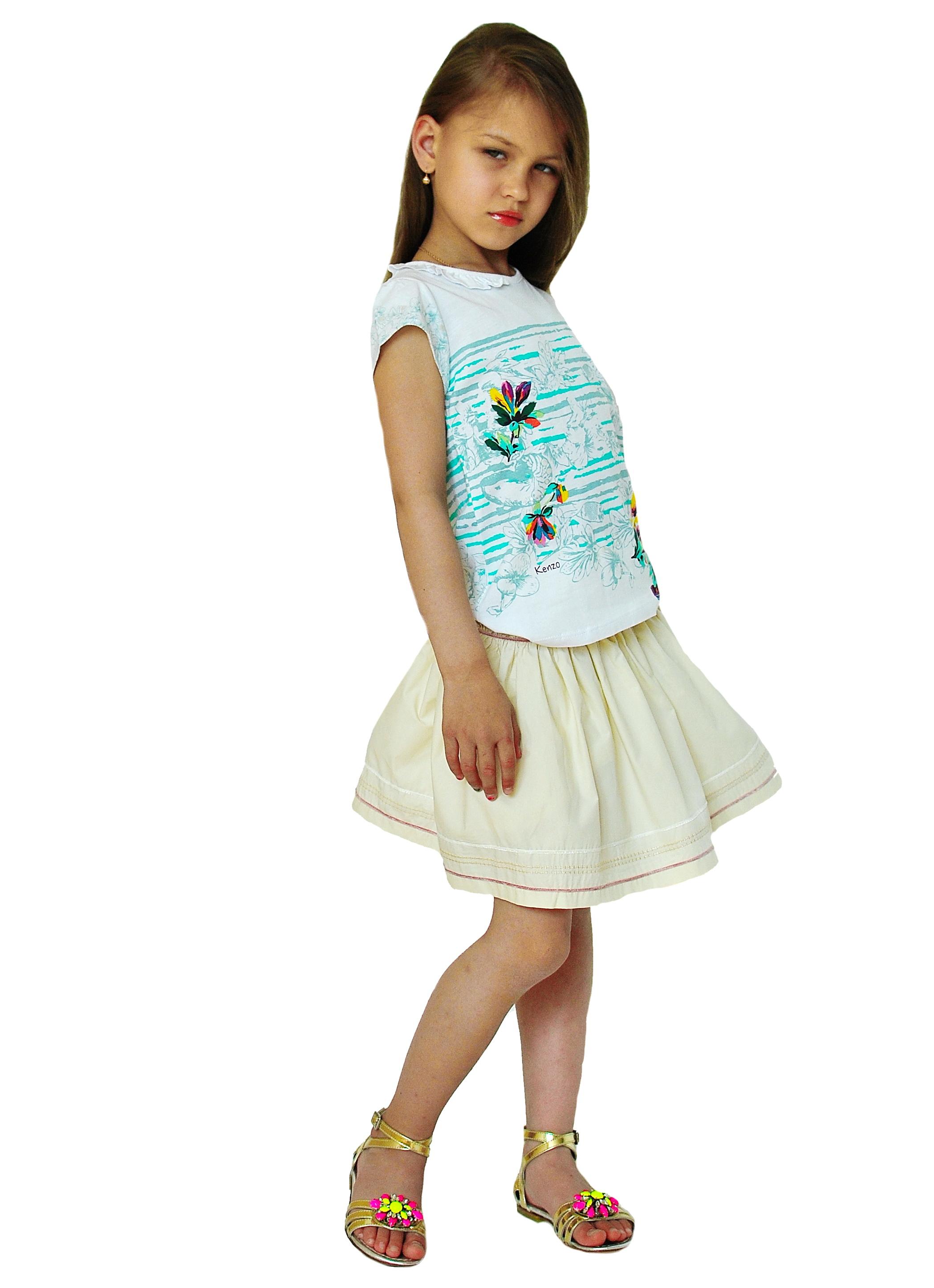 Фото 4: Яркая футболка Kenzo для девочек