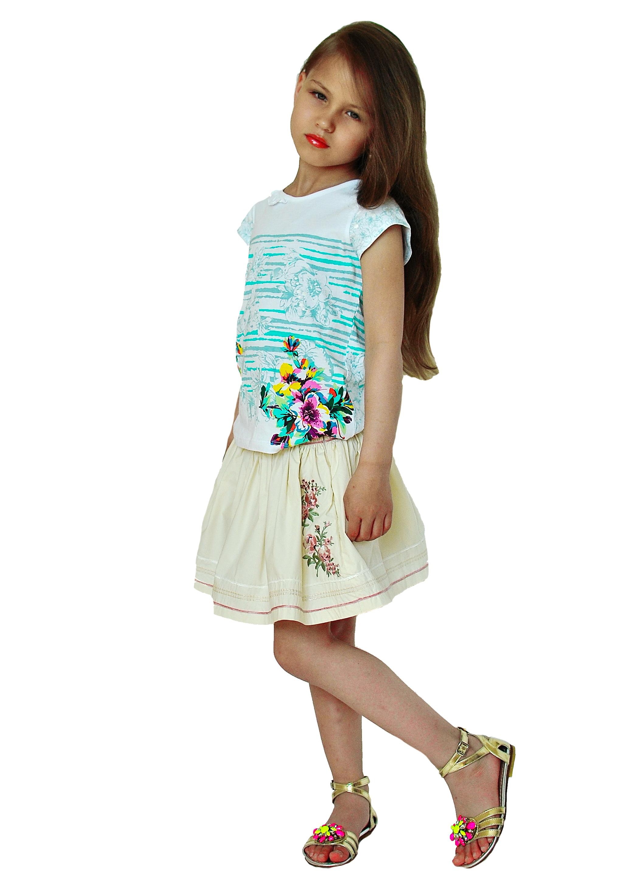 Фото 5: Яркая футболка Kenzo для девочек