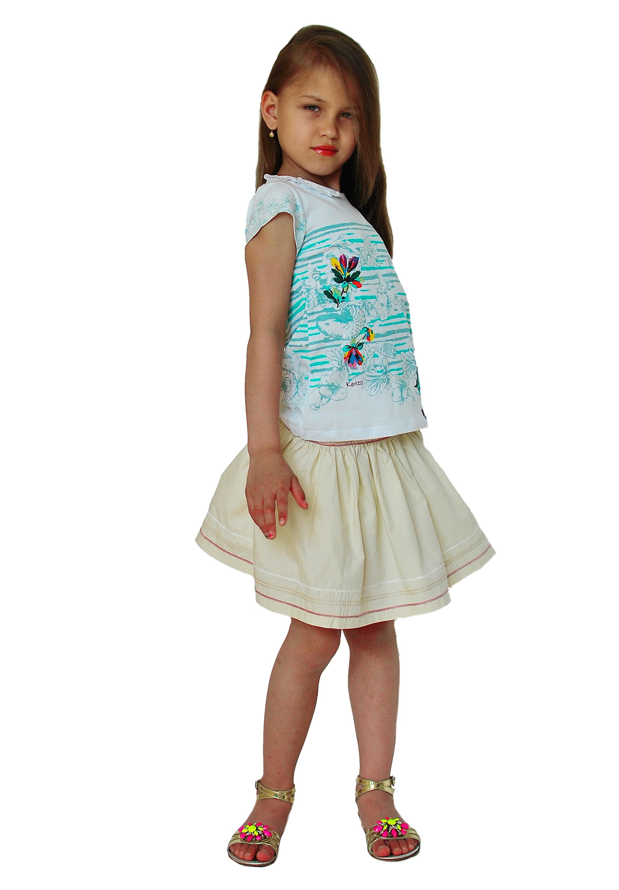 Фото 6: Яркая футболка Kenzo для девочек