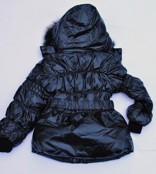 Фото 2: Куртка Ativo черная лакированная с поясом