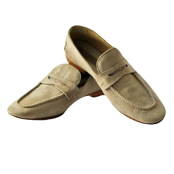Туфли (лоферы) насыщенных цветов из замши высокого качества.Картинка: 2