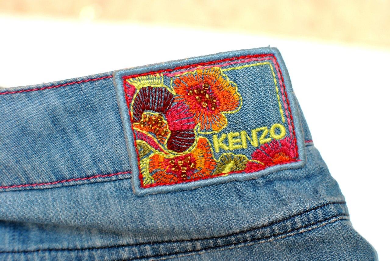 Фото 4:  детские бриджи Kenzo синего цвета