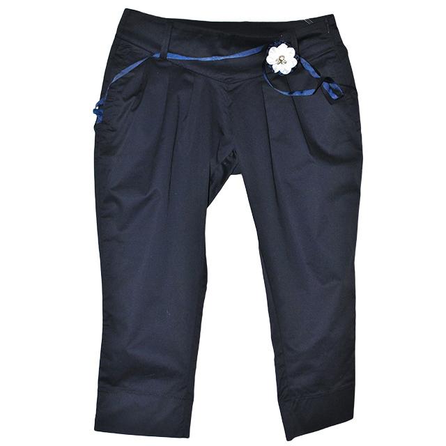 Удобные и практические брюки укороченные силуэта.Состав: 95%cotone, 5% elastam. Фото: 1