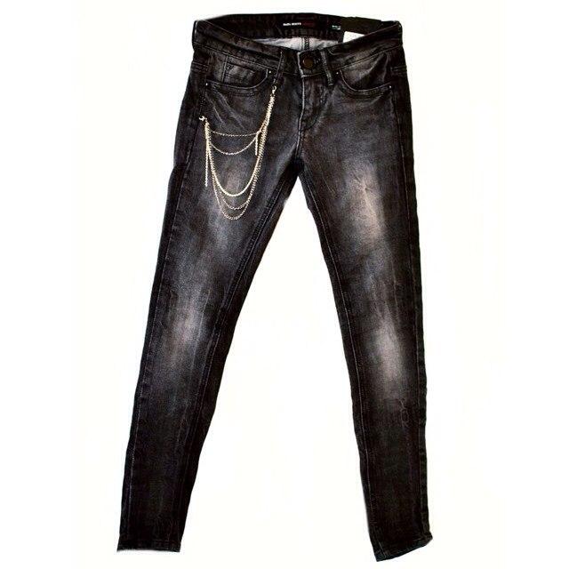 Фото 1: Черные джинсы miss sixty для девочек