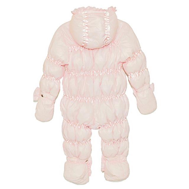 Фото 2: Розовый комбинезон пуховой Blumarine Baby для малышей