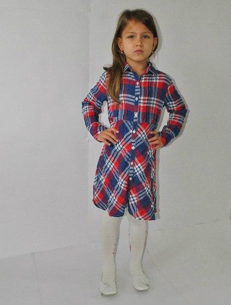 Фото 2: Платье для девочек PRENATAL в декоративную клетку