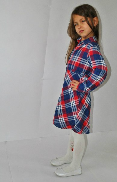 Фото 3: Платье для девочек PRENATAL в декоративную клетку