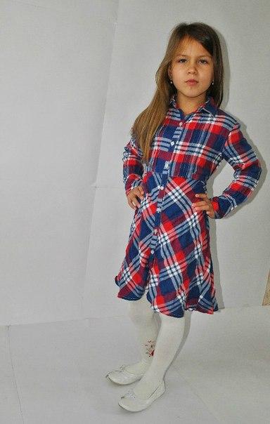 Фото 4: Платье для девочек PRENATAL в декоративную клетку