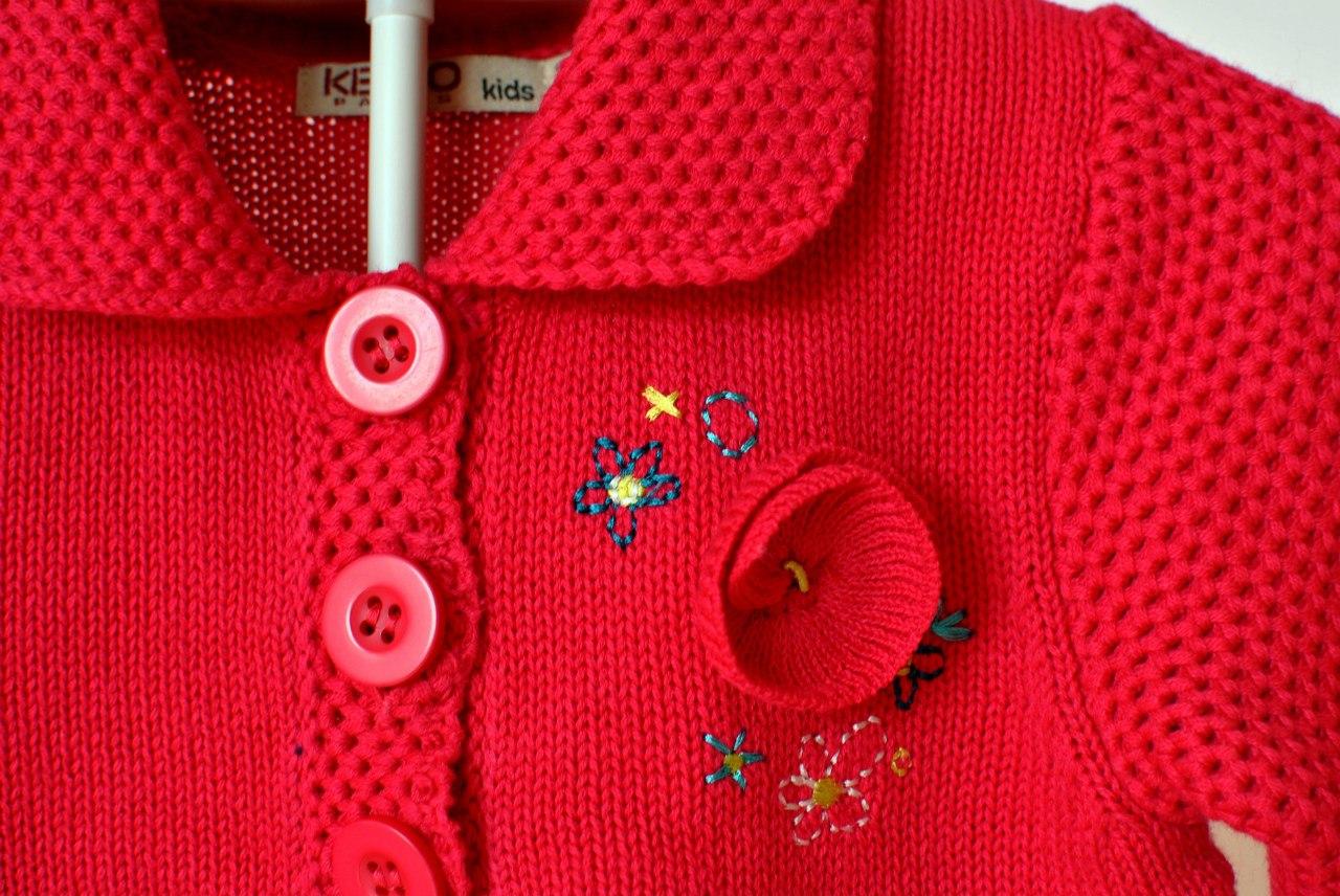 Фото 3: Красный кардиган Kenzo для девочек