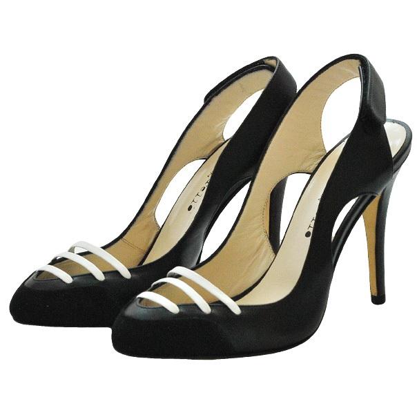 Кожа босоножки - закрытый носок, застежка липучка. Высота каблука 8см. Картинка: 3