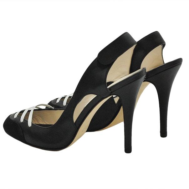 Кожа босоножки - закрытый носок, застежка липучка. Высота каблука 8см. Картинка: 4