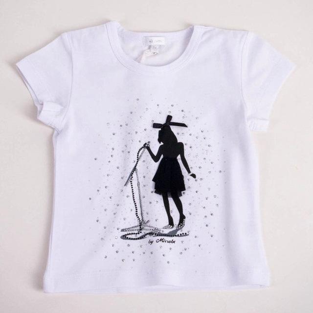 Белая футболка Miss Grant с рисунком