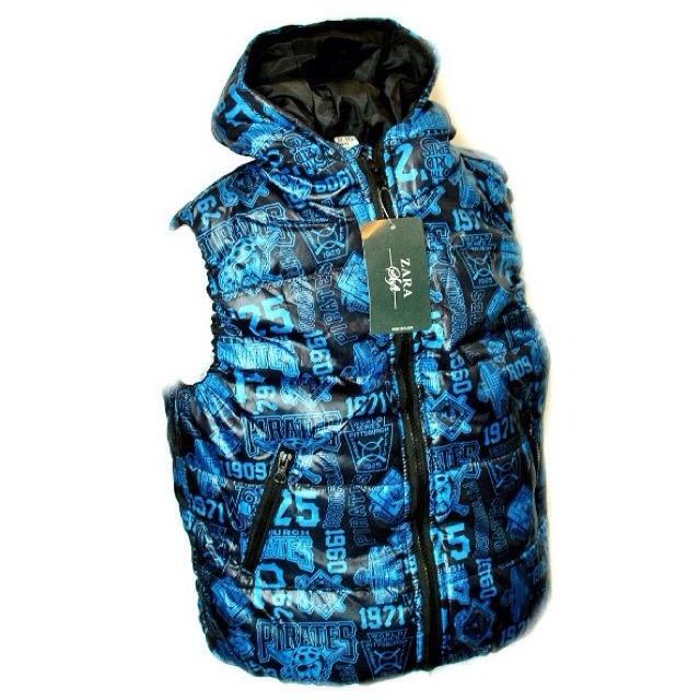 Фото 2: Синяя жилетка ZARA для мальчиков