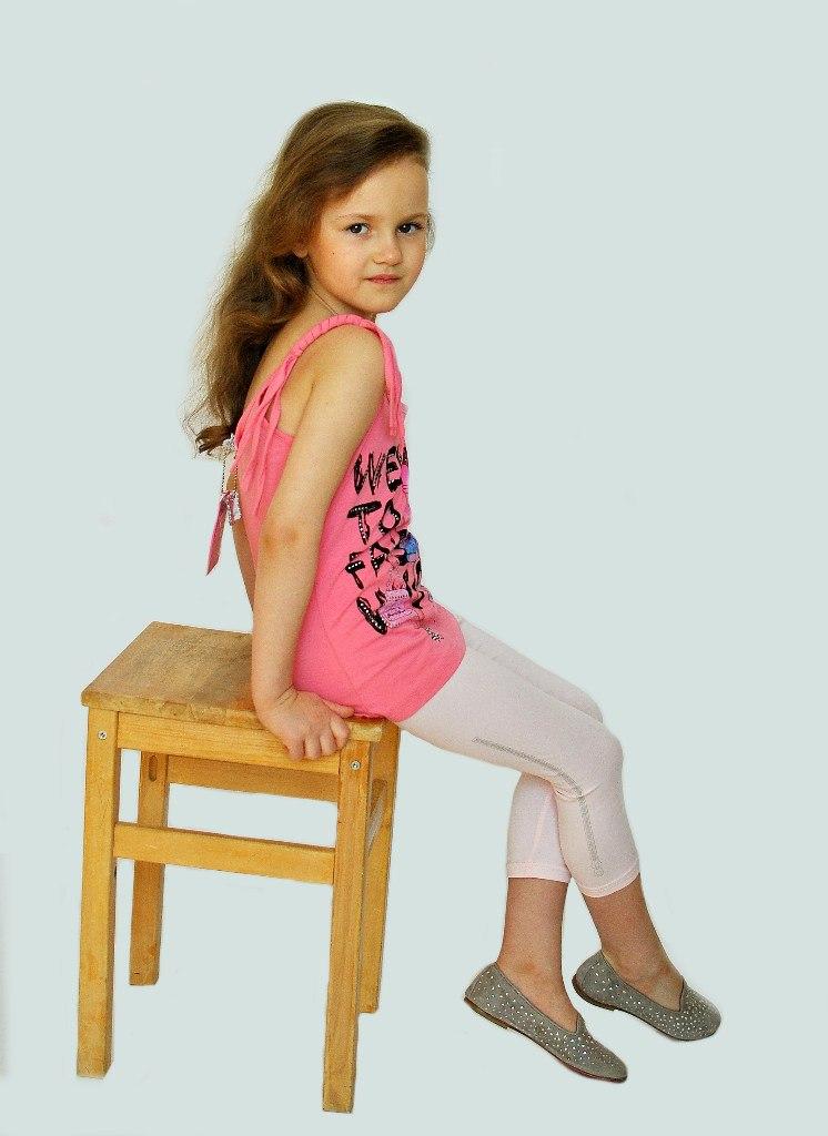 Фото 3: Розовые леггинсы для девочек LMJ