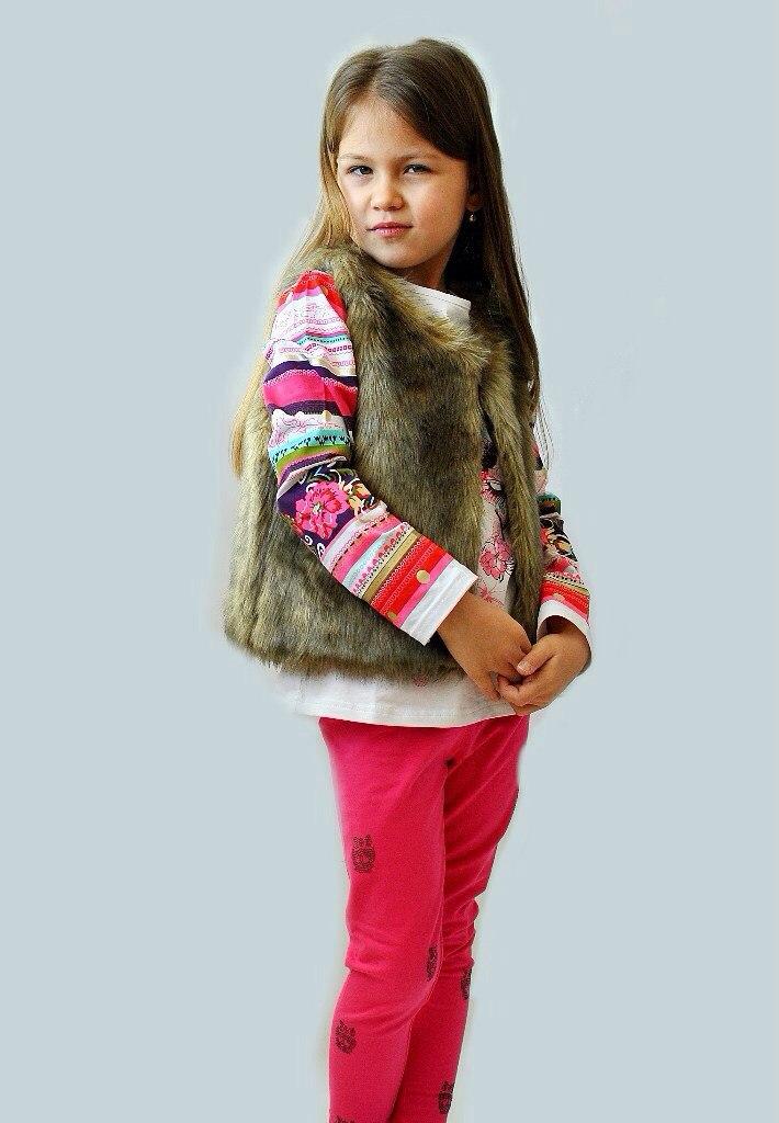 Фото 4: Меховая жилетка ETHIK SISTers для девочек
