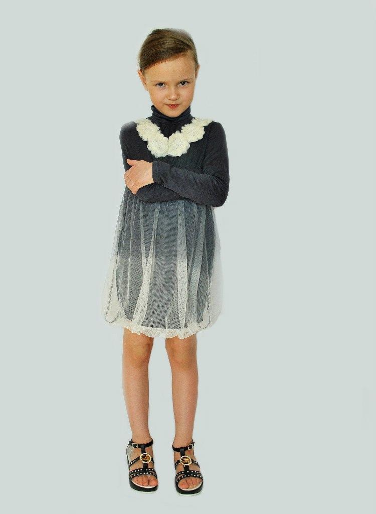 Фото 5: Детское нарядное платье Sisley