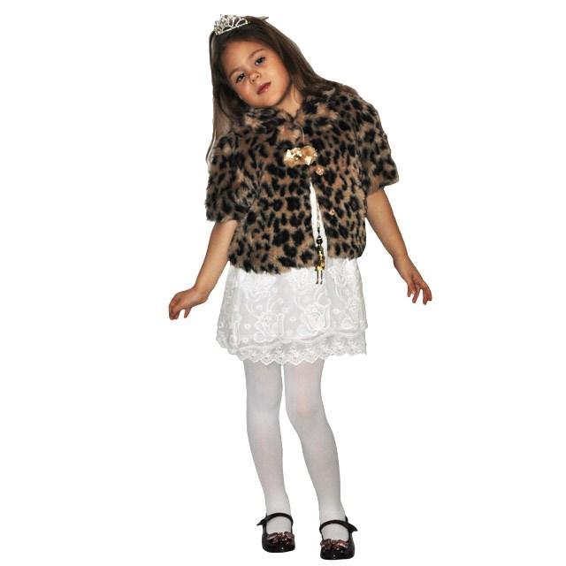 Фото 6: Леопардовая шубка с коротким рукавом TO BE TOO