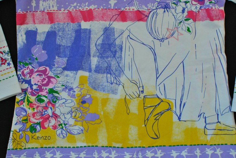 Фото 1: яркая блуза KENZO для девочекБлуза для девочек KENZO